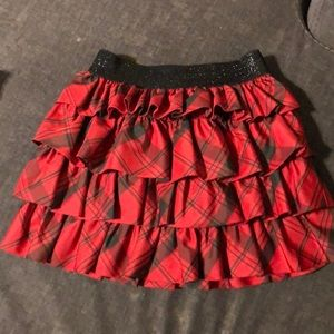 Ralph Lauren girls 6X skirt red & black plaid